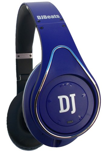 Dj Beats Stereo Bluetooth Headphones On-Ear Noise Cancelling With Wireless Music Streaming And Hands-Free Calling (Purple)