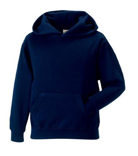 Jerzees Schoolgear Kid'S Hooded Sweatshirt French Navy 11-12 Yrs front-1024950