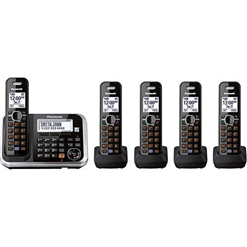 Panasonic KXTG6845B Dect_6.0 5-Handset Cordless Telephone