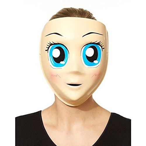 Costume Beautiful Blue Eyed Anime Mask