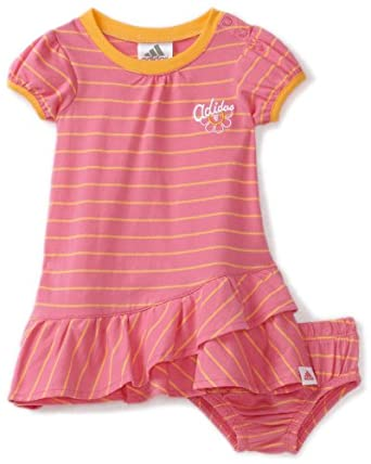 Amazon adidas Baby Girls Infant Stripe Play Dress Set
