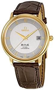Omega Men's 4617.31.02 DeVille Prestige Silver Dial Watch