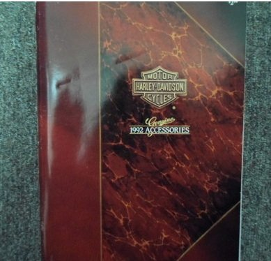1992 Harley Davidson Genuine Accessories Catalog FACTORY OEM BOOK 92 (Harley Accessory Catalog compare prices)