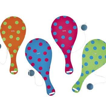 Polka Dot Paddleball Games - 12 Pack