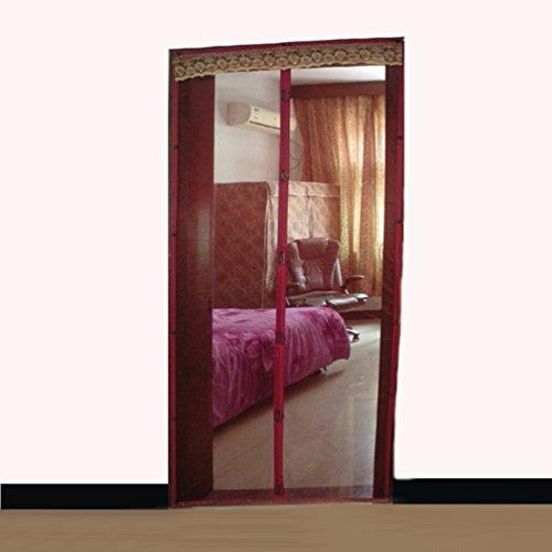 Instant Screen Door : Bug off instant screen magnetic door curtain