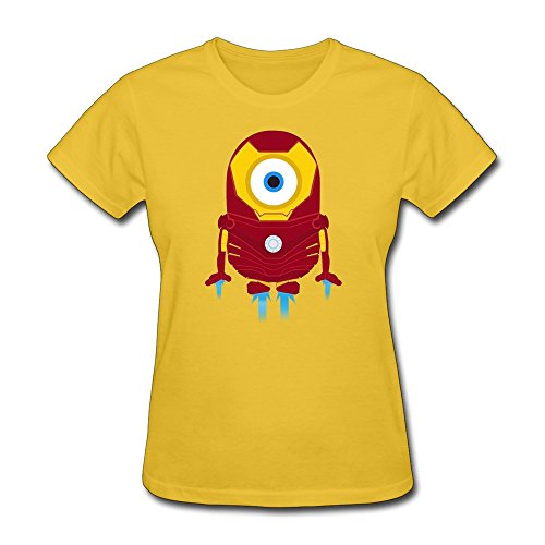 WAYNEY Big Girlsâ€TM The Avengers Tony Stark Iron Man Despicable Me Minions T-shirt