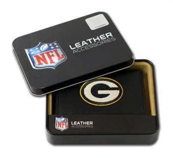 Green Bay Packers Embroidered Leather Tri-Fold Wallet by Rico
