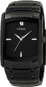 Fossil Men's FS4159 Black Stainless Steel Bracelet Black Analog Dial Watch