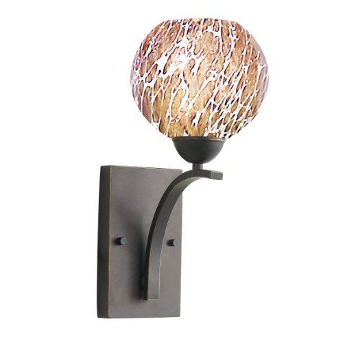 Woodbridge Lighting 13051MEB-UEB125 North Bay 1-Light Wall/Bath Sconce, 6-Inch by 13-3/4-Inch by 8-Inch, Metallic Bronze