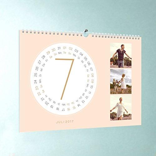 foto kalender selber gestalten runde monate wandkalender. Black Bedroom Furniture Sets. Home Design Ideas