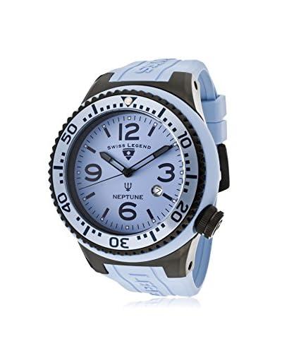 Swiss Legend Men's 21818S-C-NC Neptune Light Blue Dial Light Blue Silicone Watch