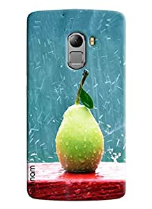 Omnam Rain Drops On Guava Printed Designer Back Cover Case For Lenovo K4 Note