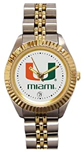 Miami Hurricanes- (University of) Ladies Executive Stainless Steel Sports Watch by SunTime
