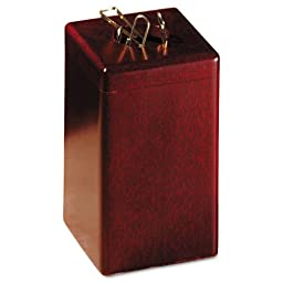 Rolodex : Wood Tones Paper Clip Holder, Wood, 2 1/8w x 2 1/8d x 3 1/2h, Mahogany -:- Sold as 2 Packs of - 1 - / - Total of 2 Each