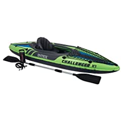 Buy New Intex One Person Challenger K1 Inflatable Kayak Kit with Paddle & Pump l 68305EP by Intex