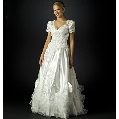 wedding dress short sleeves