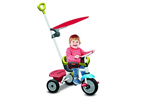 Fisher Price FP3450733 - Triciclo Jolly Plus 3 in 1 con Maniglione, Verde/Rosso