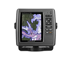 Garmin echoMAP 50s GPS with Trasom Motor Mount Transducer and Worldwide Basemap by Garmin