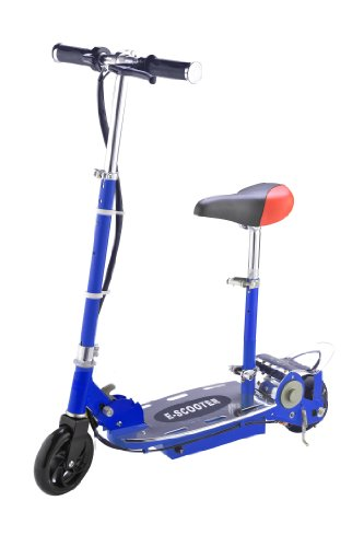 94717 New 2012 Model Top Quality 120 Watt Foldable Rechargeable Electronic Ride On Scooter E-scooter With Adjustable Seat In Blue <<<tht Trade>>>