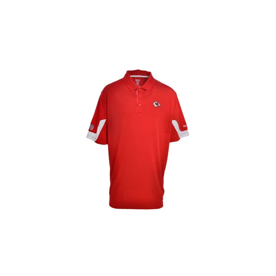 Kansas City Chiefs Reebok Official NFL Polo Shirt   Sideline Jersey