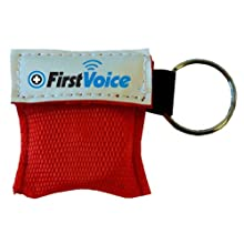 First Voice KEY1 Mini CPR Keychain with CPR Barrier, One-Way Valve (10 pack)