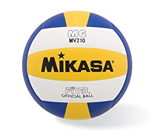 Buy Mikasa MV210 Premium Synthetic Volleyball (Official Size) by Mikasa Sports