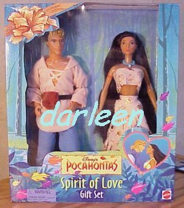 Disney Pocahontas Spirit of Love doll Giftset with BOTH John Smith and Pocahontas by Mattel by Mattel