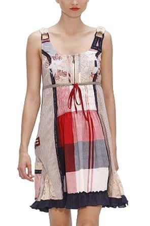 Desigual - Robe - Femme - Blanc (1010 Tiza) - 44