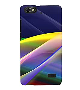 Multicolour Layer Pattern 3D Hard Polycarbonate Designer Back Case Cover for Huawei Honor 4C :: Huawei G Play Mini