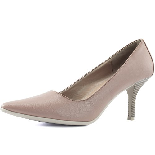 DailyShoes Women's Comfortable Ponited Toe Non-Slip High Heel Pump Shoes, 11