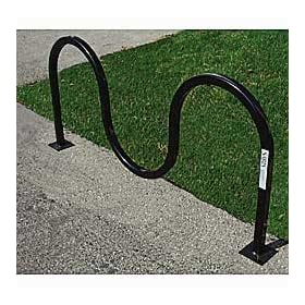 Saris Wave Round Tube Bike Rack - Holds 7 Bikes - Flange Mount - Black by Wave