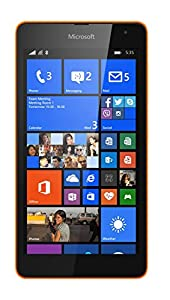 Microsoft Lumia 535 5 inch UK SIM-free (unlocked) Smartphone (Qualcomm Snapdragon 200 1.2GHz, 1Gb RAM, 8Gb storage, Wi-Fi, BT, Camera, Windows 8.1) - Orange