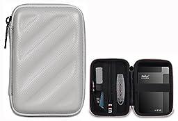 BUBM Electronics Accessories Organizer Travel Carrying Case Digital Storage Bag EVA Series for Hard drive(EHD,Gray)