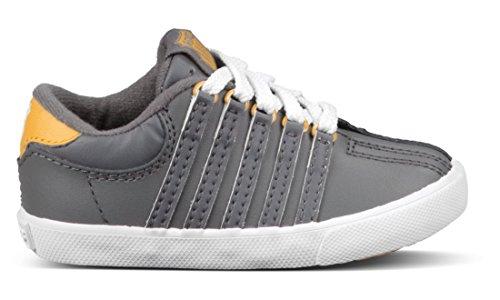 K-Swiss Classic Sneaker (Infant/Toddler/Little Kid),Charcoal/Golden Glow/White,8 M Us Toddler
