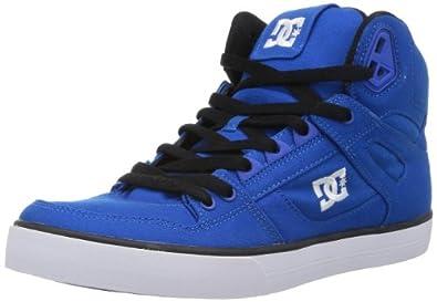 DC Men's Spartan Hi WC TX Fashion Sneaker,Royal/White,9.5 M US