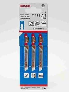Bosch T118A3 3-Inch, 24TPI, HSS Bosch Shank Jigsaw Blade, 3 Pack at Sears.com