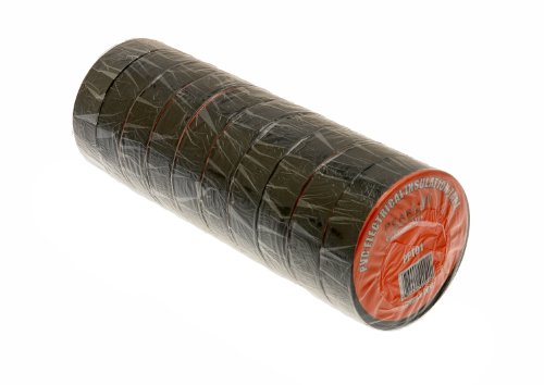 pearl-ppt01-19mm-x-20m-x-10m-insulating-tape-black-1-pack-of-10-rolls