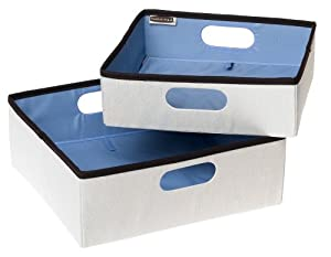 Rubbermaid Configurations Set of 2 Nesting Storage Bins, Natural (FG3F27DWNATUR)