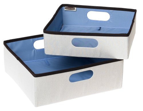 Rubbermaid 3F27 Configurations Nesting Storage Bins, 2-Pack, Natural
