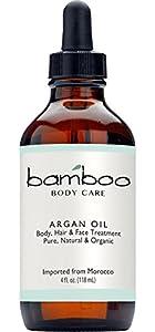 Bamboo Body Care Organic Argan Oil 4oz.