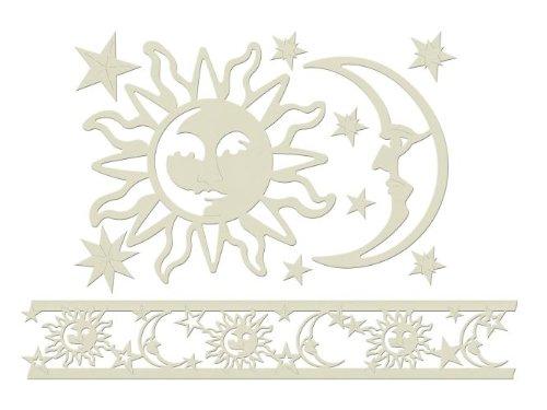Home Design B15005 - 3D Dekor Motiv selbstklebend Sonne und Mond 6m