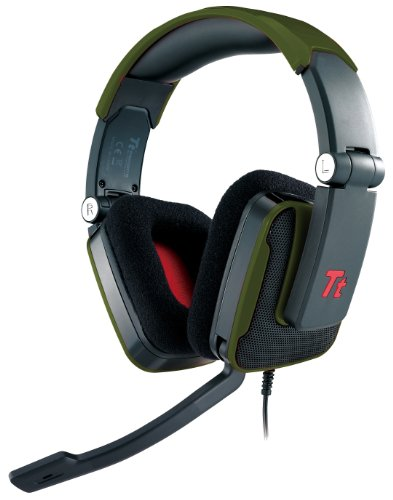 Tt Esports Shock Series Battle Editions Ht-Shk002Ecgr Thermaltake Gaming Headset - Military Green