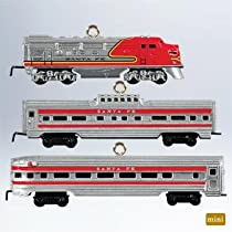 2011 LIONEL Santa Fe Super Chief Miniature Train Ornaments - QXM9119