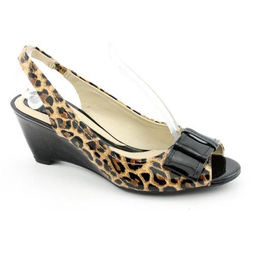Naturalizer-Burlone-New-Open-Toe-Wedges-Shoes-Brown-Women