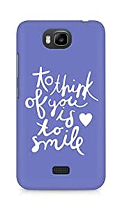 AMEZ to think of you is to smile Back Cover For Huawei Honor Bee