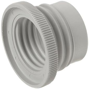 BrandTech 2704828 Polypropylene Bottle Thread Adapter, 45mm/33mm OD (Pack of 3)