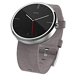 Motorola Moto 360 Smart Watch - Stone Grey (Certified Refurbished)
