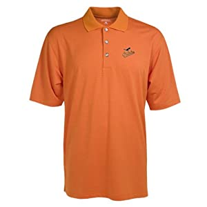 Baltimore Orioles Polo - MLB Antigua Mens Phoenix Polo Mango by Antigua
