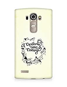AMEZ creativity takes courage Back Cover For LG G4
