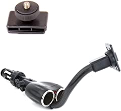 DURAGADGET Adjustable In-Car Compact Camera Mount with Dual Port Cigarette Lighter Charger for the N